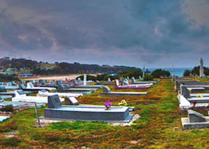 Cemetery Photographs Greeting Card featuring the photograph Narooma Cemetery by Joanne Kocwin