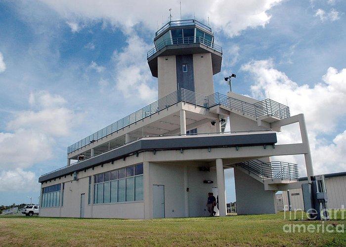 Air Traffic Control Tower Greeting Card featuring the photograph Nasa Air Traffic Control Tower by Nasa