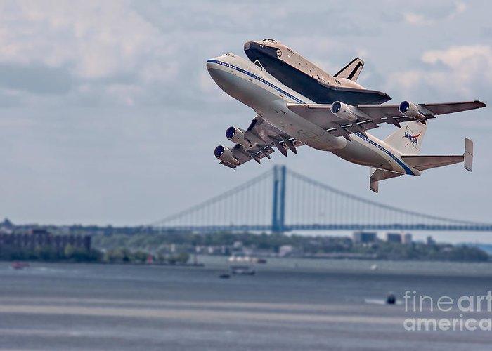 Space Shutle Enterprise Greeting Card featuring the photograph Nasa Enterprise Space Shuttle by Susan Candelario