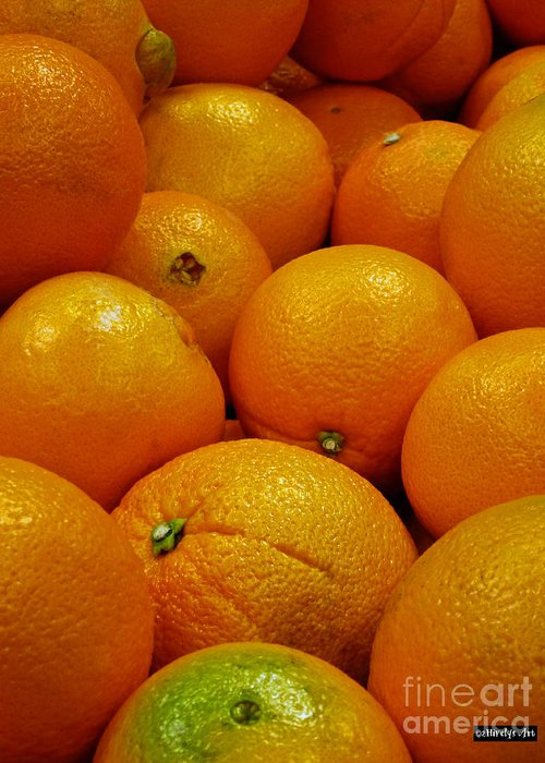 Navel Oranges Greeting Card featuring the photograph Navel Oranges by Methune Hively