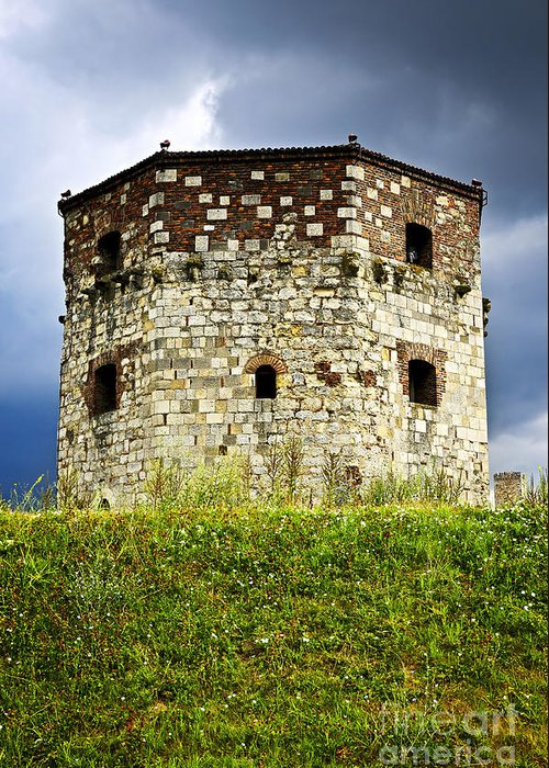 Nebojsa Greeting Card featuring the photograph Nebojsa Tower In Belgrade by Elena Elisseeva