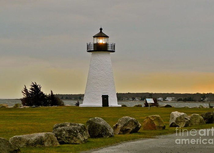 Lighthouse Greeting Card featuring the photograph Ned's Point Lighthouse by Nick Korstad