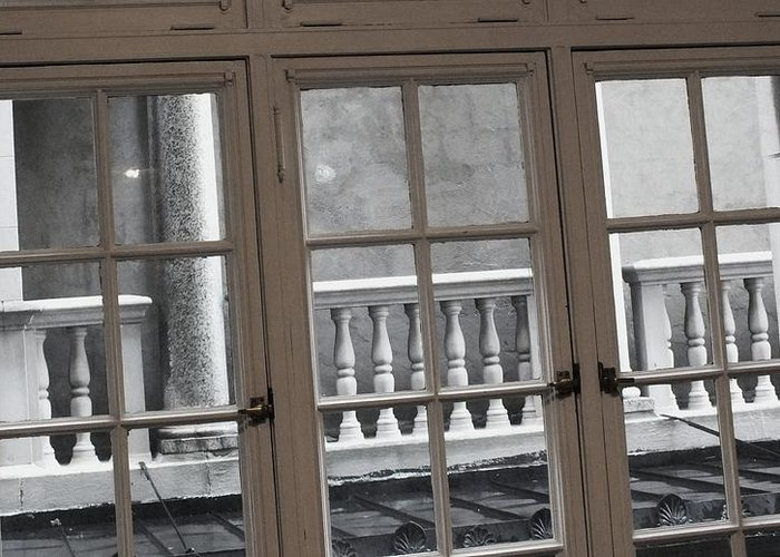 Columns Greeting Card featuring the photograph Neighbors Baluster by Anna Villarreal Garbis