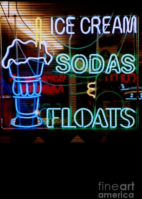 Neon Greeting Card featuring the photograph Neon Sign by Susan Stevenson
