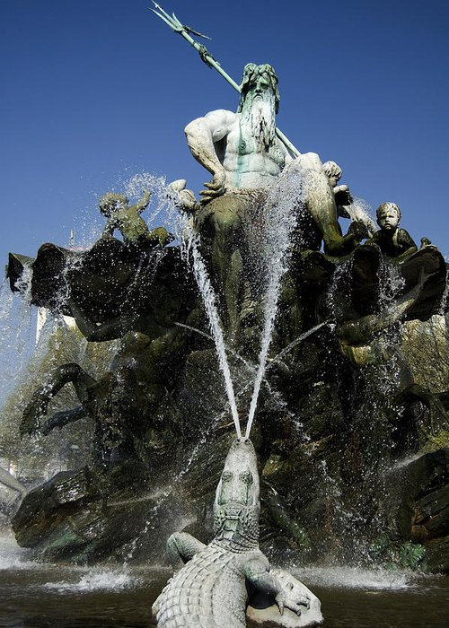 Neptune Greeting Card featuring the photograph Neptune Fountain by RicardMN Photography