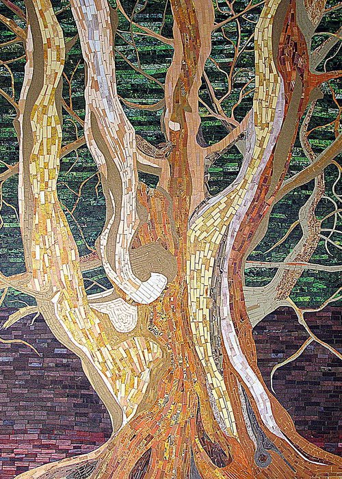 Tree Greeting Card featuring the mixed media New Born by Claudia French