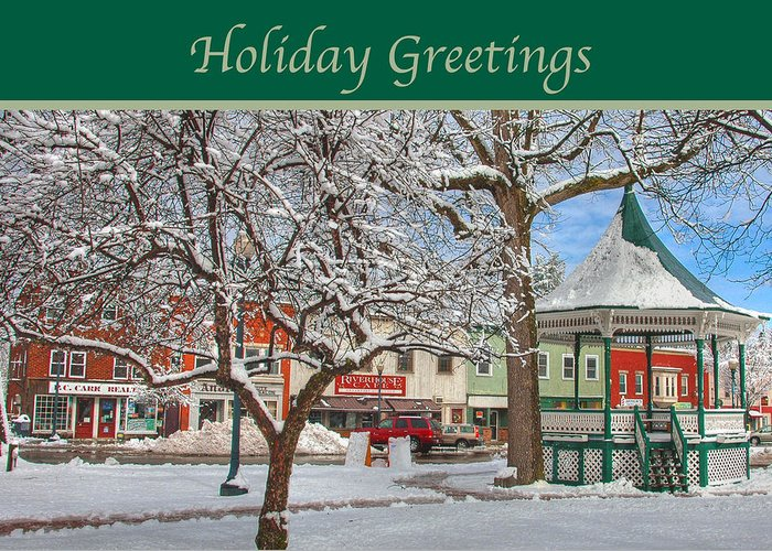New England Greeting Card featuring the photograph New England Christmas by Joann Vitali