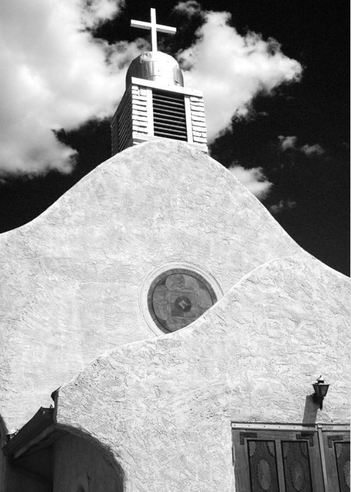 New Mexico Greeting Card featuring the photograph New Mexico Church by Sonja Quintero