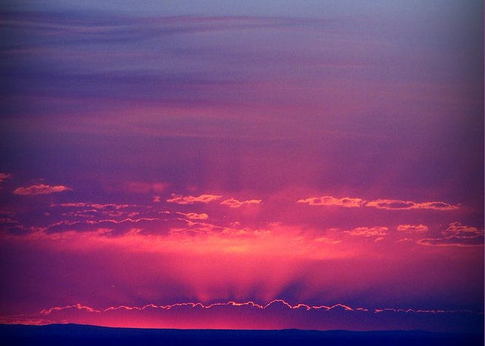 Tanoan Country Club Greeting Card featuring the photograph New Mexico Sky Colors by Aaron Burrows