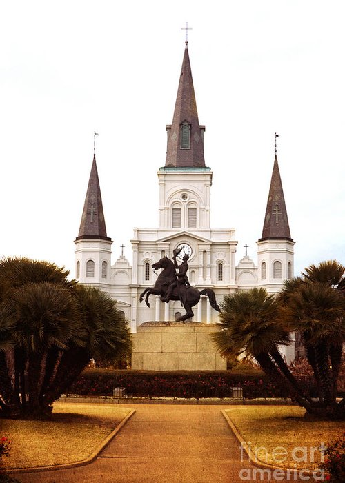 New Orleans Greeting Card featuring the photograph New Orleans St. Louis Cathedral by Kim Fearheiley