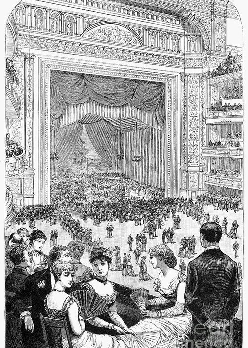 -organization- Greeting Card featuring the photograph New York Charity Ball, 1884 by Granger