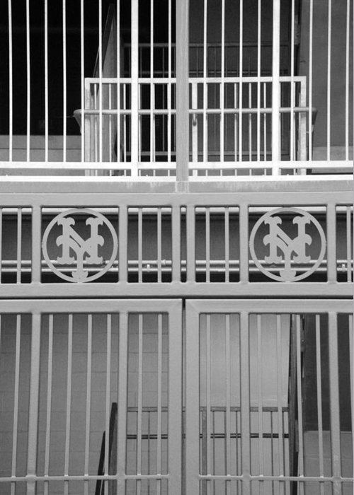 Shea Stadium Greeting Card featuring the photograph New York Mets Jail by Rob Hans