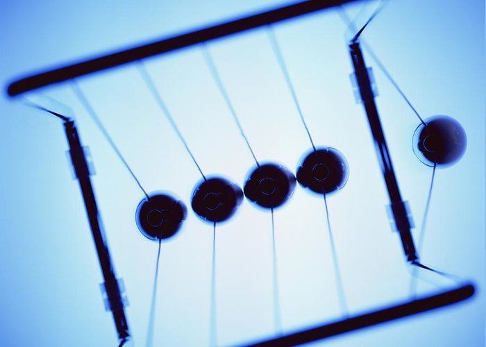Newton's Cradle Greeting Card featuring the photograph Newton's Cradle by Kevin Curtis