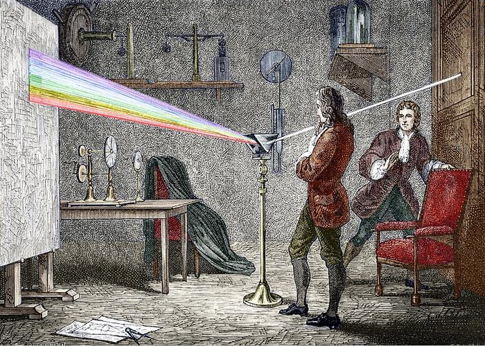 Isaac Newton Greeting Card featuring the photograph Newton's Optics by Sheila Terry