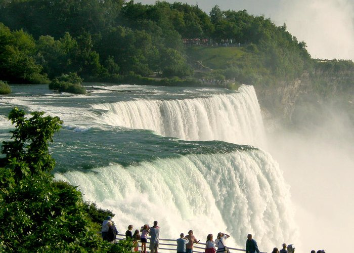 Niagara Falls Greeting Card featuring the photograph Niagara Falls State Park by Mark J Seefeldt