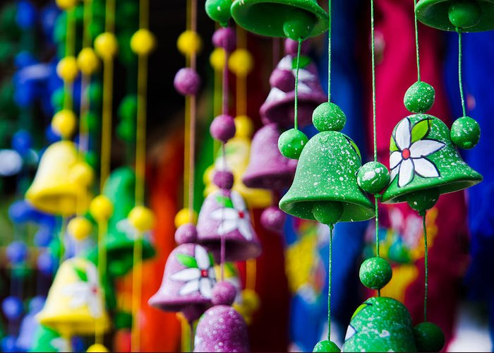 Celebration Greeting Card featuring the photograph Nicaraguan Bells by William Shevchuk