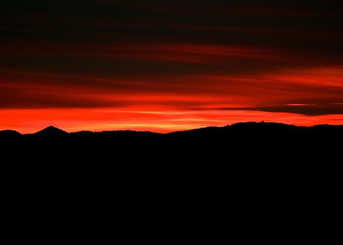 Sunset Greeting Card featuring the photograph Night On Fire by Kevin Bone