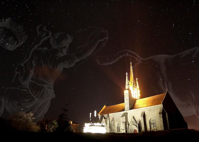 Building Greeting Card featuring the photograph Night Sky by Laurent Laveder