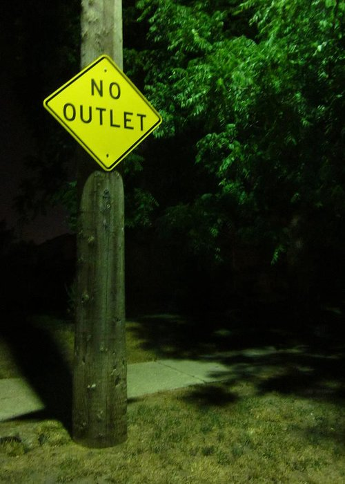 Traffic Sign Greeting Card featuring the photograph No Way Out by Guy Ricketts