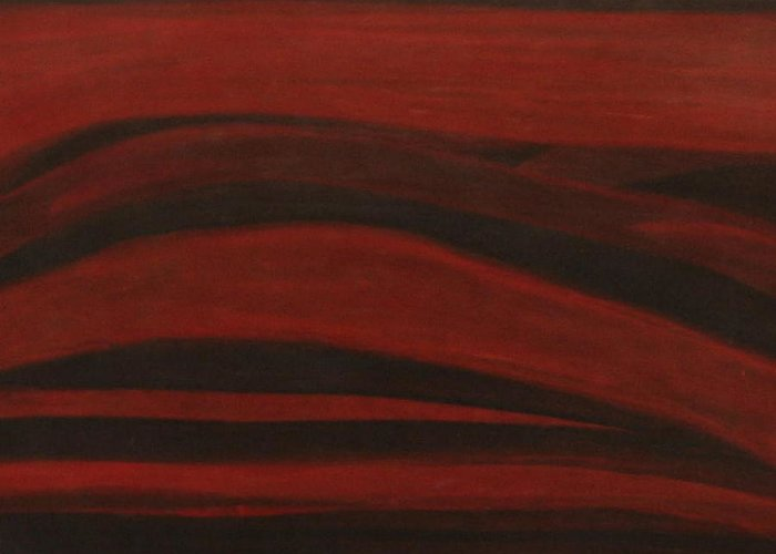 Abstract Landscape Study Greeting Card featuring the painting No.209 by Vijayan Kannampilly