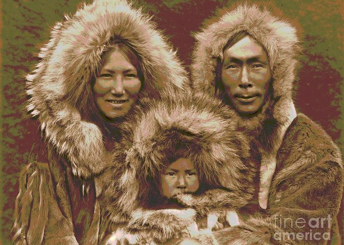 Noatak Family Group Greeting Card featuring the photograph Noatak Family Group by Padre Art