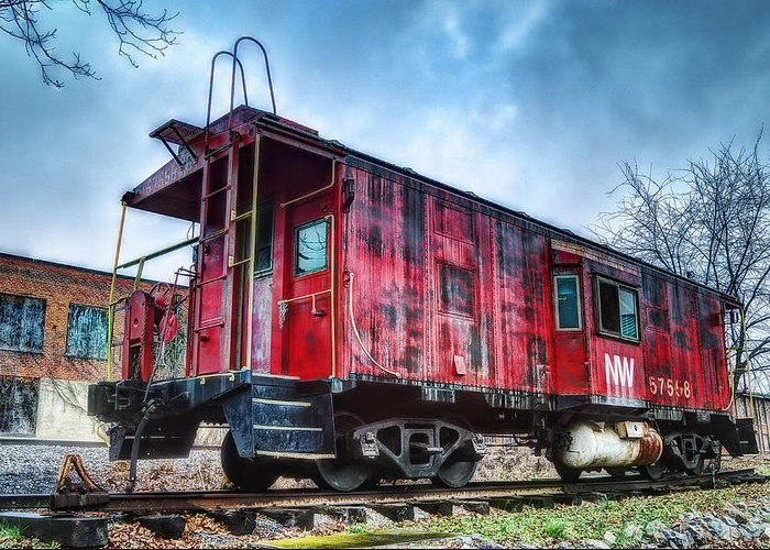 Caboose Greeting Card featuring the photograph Norfolk Western Caboose by Steve Hurt