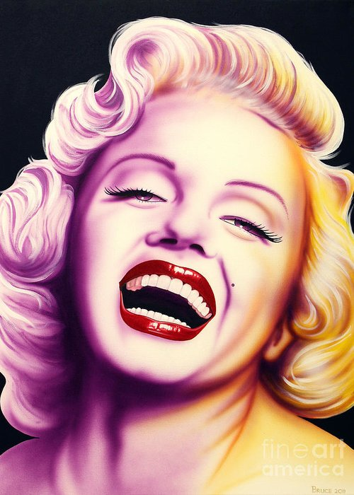 Marilyn Monroe Greeting Card featuring the painting Norma Jean by Bruce Carter