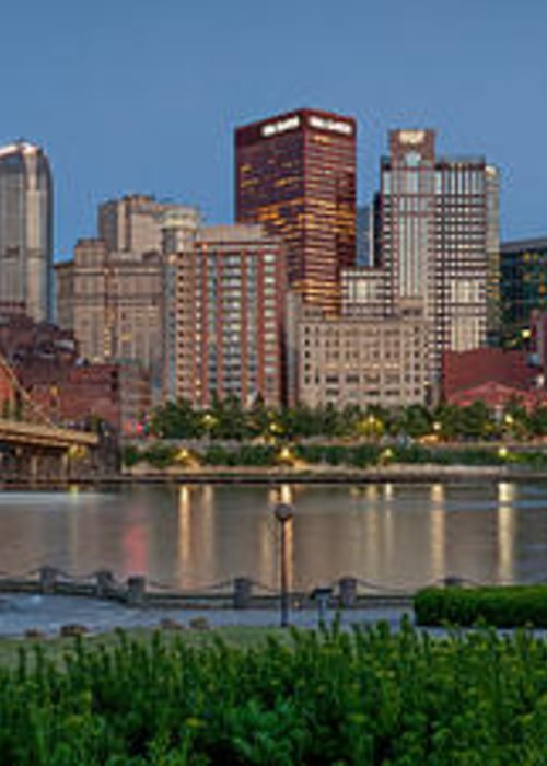 Pittsburgh Greeting Card featuring the photograph Nor'side Pano by Jennifer Grover