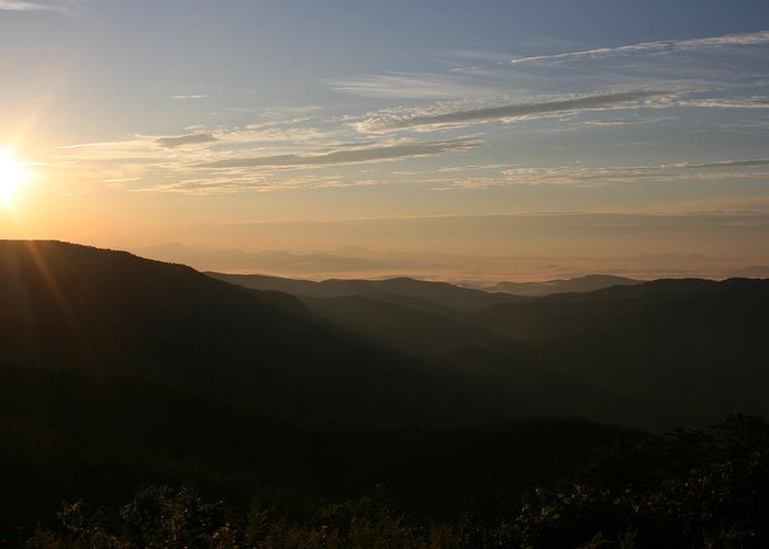 North Carolina Greeting Card featuring the photograph North Carolina Morning by Stacy C Bottoms