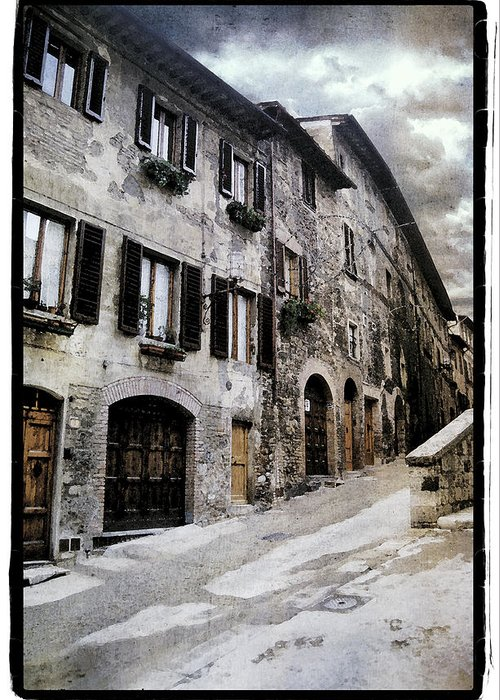 Art Greeting Card featuring the pyrography North Italy by Mauro Celotti