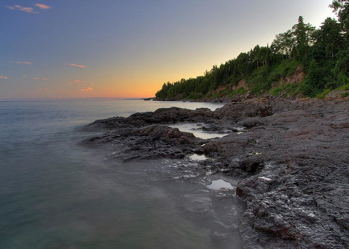Minnesota Greeting Card featuring the photograph North Shore by Sam Neumann