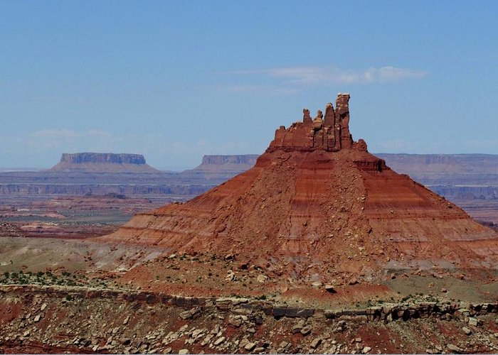Utah Greeting Card featuring the photograph North Six Shooter Close Up by Chris Anthony