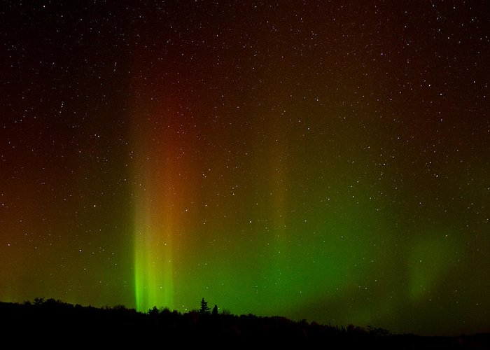 Aurora Borealis Greeting Card featuring the photograph Northern Lights by Cale Best