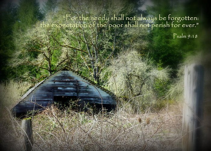 Cindy Greeting Card featuring the photograph Not Forgotten Barn Psalm by Cindy Wright