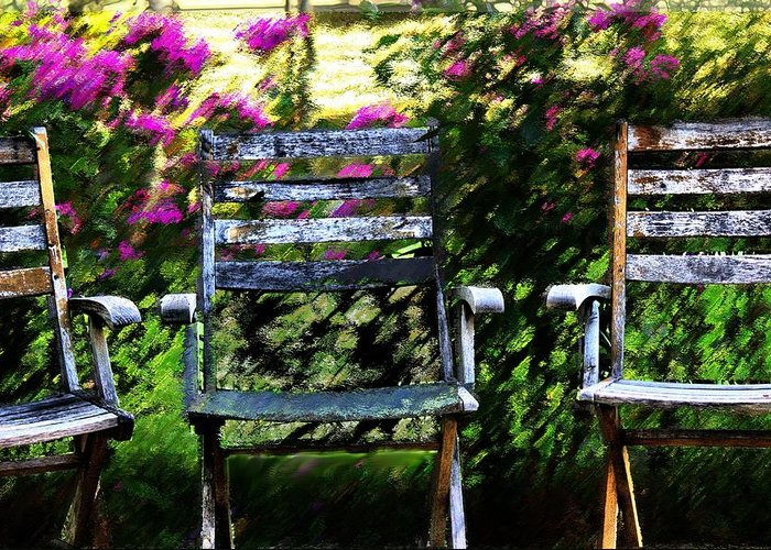 Impressionism Greeting Card featuring the mixed media Not Forgotten by Terence Morrissey