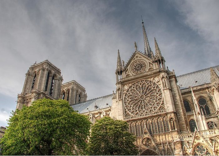 Notre Dame Greeting Card featuring the photograph Notre Dame De Paris by Jennifer Ancker