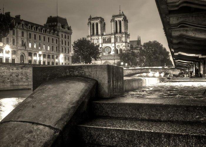 Notre Greeting Card featuring the photograph Notre-dame De Paris by Matthieu Godon