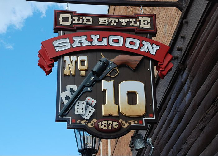 Saloon Greeting Card featuring the photograph Number 10 Saloon by Dany Lison