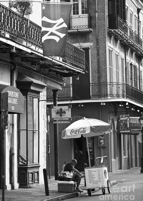 New Orleans Greeting Card featuring the photograph Ny Yankees On Royal Street by Leslie Leda