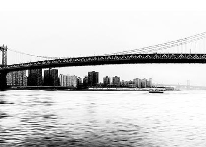Ny Greeting Card featuring the photograph Nyc - Manhattan Bridge by Hannes Cmarits