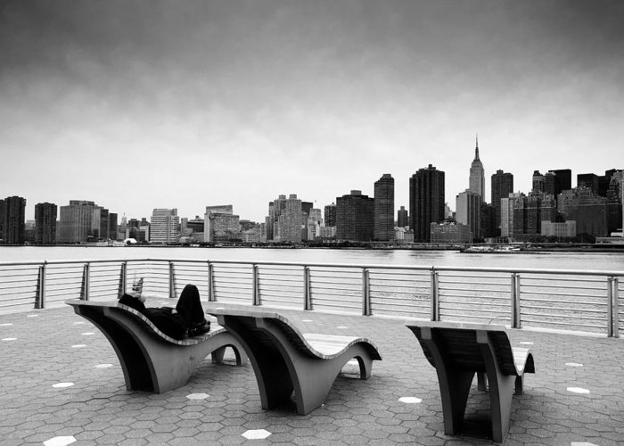 Ny Greeting Card featuring the photograph Nyc Relax by Nina Papiorek
