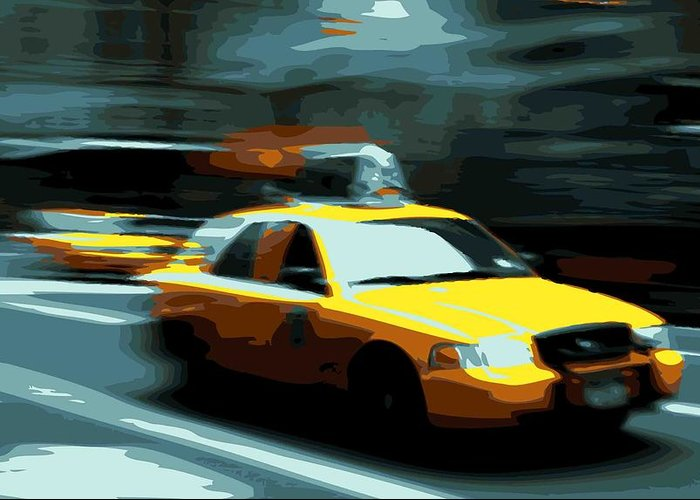 Taxi Greeting Card featuring the photograph Nyc Taxi Color 16 by Scott Kelley
