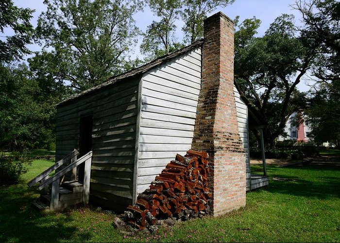 Oakley Plantation Greeting Card featuring the photograph Oakley Plantation Slave Quarters by Bourbon Street