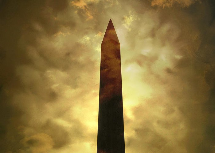 Tall Greeting Card featuring the photograph Obelisk. Illustration by Bernard Jaubert