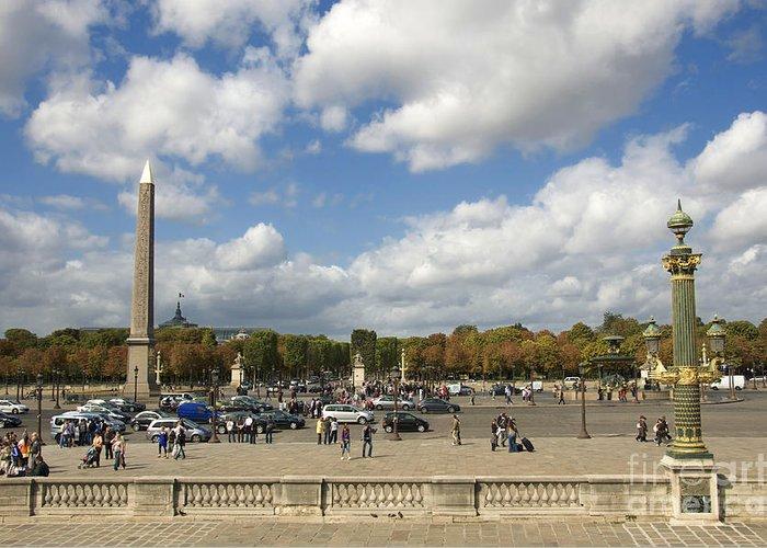 Paris Greeting Card featuring the photograph Obelisque Place De La Concorde. Paris. France by Bernard Jaubert