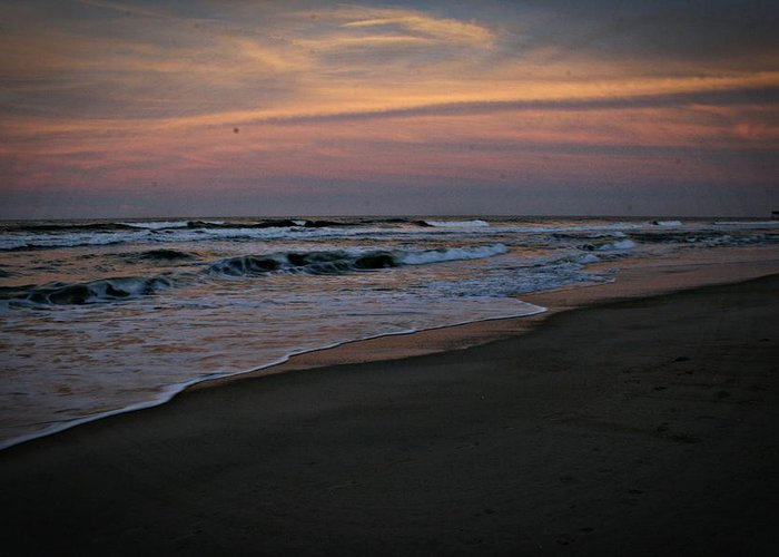 Obx Greeting Card featuring the photograph Obx Sunrise by Andrea Stuart-Bishop