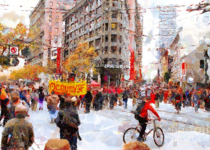 Occupy Wallstreet Greeting Cards