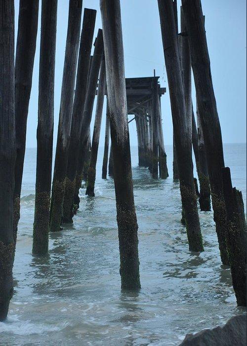 Ocean City 59th Street Pier Greeting Card featuring the photograph Ocean City 59th Street Pier by Bill Cannon
