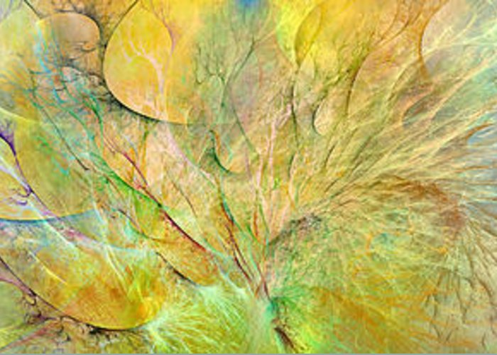 Fractal Greeting Card featuring the digital art Ocean Paradise by Betsy Knapp
