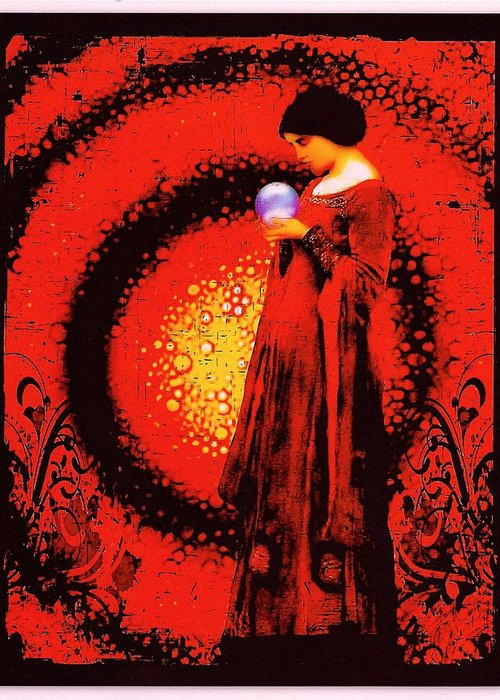 October Moon Greeting Card featuring the digital art October Moon by Janiece Senn
